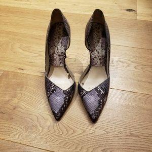 Heels in grey python
